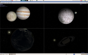 Captura de pantalla de Celestia