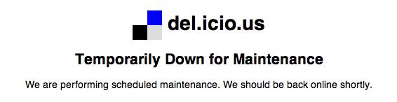 del.icio.us down