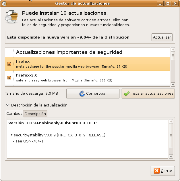 Ubuntu 9.04 disponible