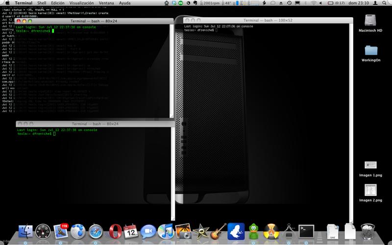 Grupos de terminales en Mac OS X