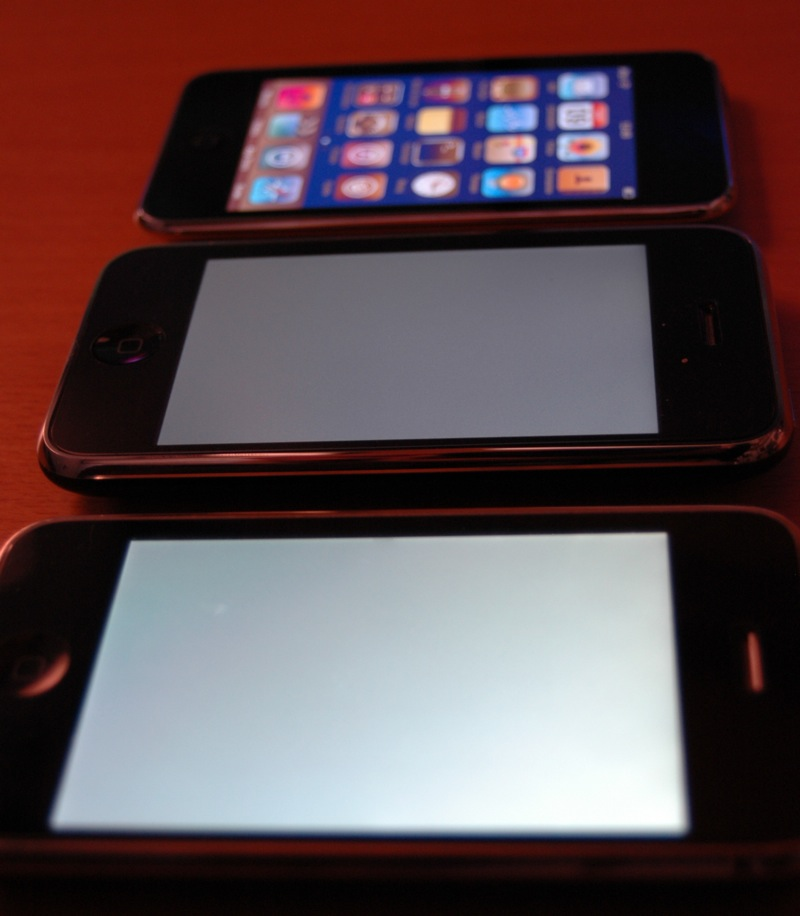 iPhone 3G S, 3G y iPod Touch