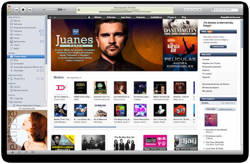 iTunes abierto