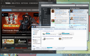 Win7 en mi MBP corriendo varias apps