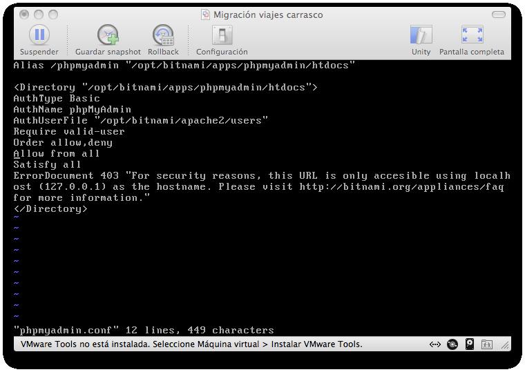Configurando phpMyAdmin
