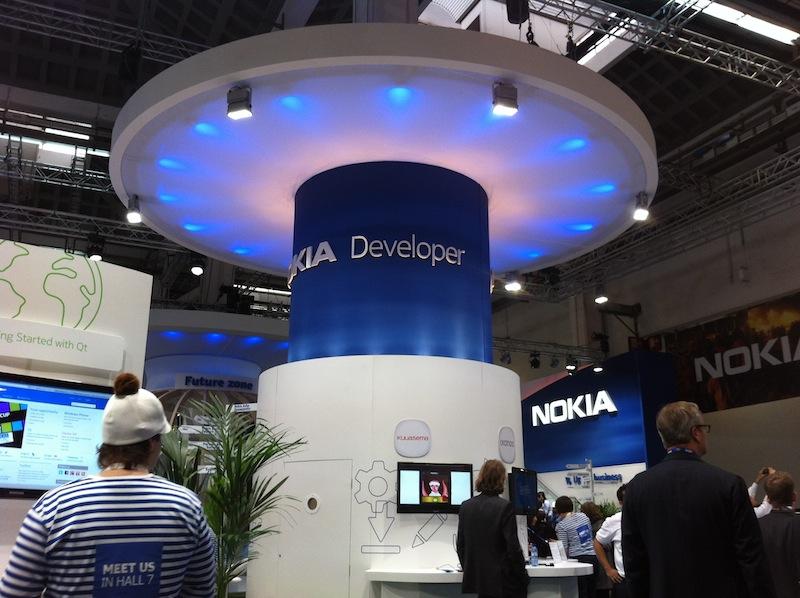 La zona Developer del Pabellón de Nokia