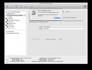 Utilidad de discos no puede formatear el disco