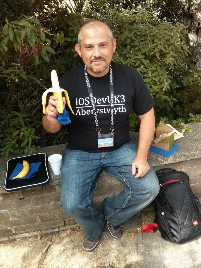 Comer fruta en una conferencia: achievent unlocked