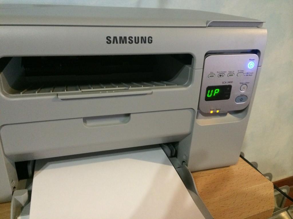 Mi impresora mientras borro el contador